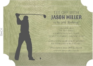 Golf 50th Birthday Party Invite