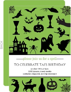 Scary Images Halloween Birthday Party Invite