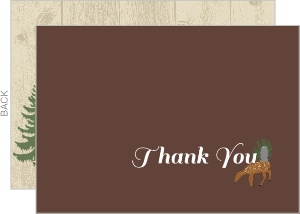 Woodgrain Animals Wedding Thank You Card