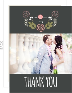 Garden Blossoms Wedding Thank You Card