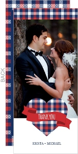 Country Tartan Plaid Wedding Thank You Card