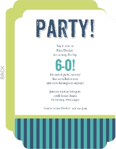 Cheap 60th Birthday Invitations