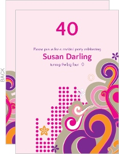 Bubbly Celebration for 40th Birthday Invitation