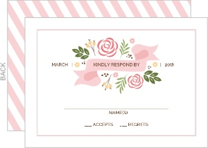 Whimsical Garden Wedding Response Card