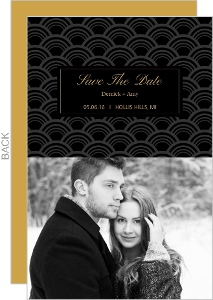 Sophisticated Art Deco Pattern Save The Date Card