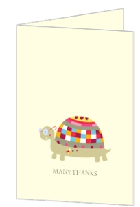 Whimsical Turtle Baby Thank You Card