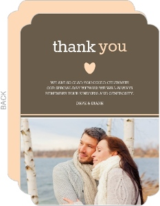 Gray Pink Anniversary Thank You Card