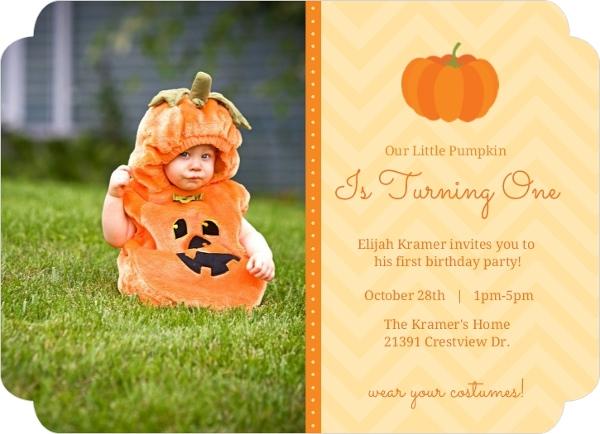 Orange little pumpkin first birthday invitation first birthday orange little pumpkin first birthday invitation filmwisefo