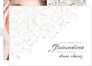 Elegant La Quinceanera Invitation