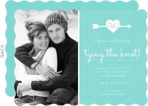 Mint Heart and Arrow Engagement Announcement