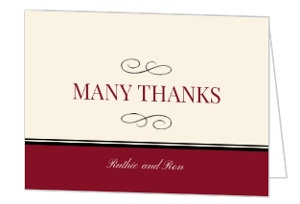 Ruby Red Picture Perfect Anniversary Thank You Card