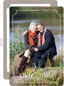 Full Photo Simple Frame 25th Anniversary Wedding Invitation