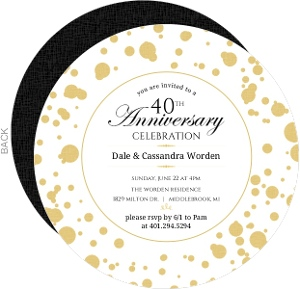 Confetti Flare 40th Anniversary Invitation