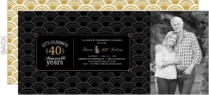 Art Deco Pattern 40th Anniversary Invitation