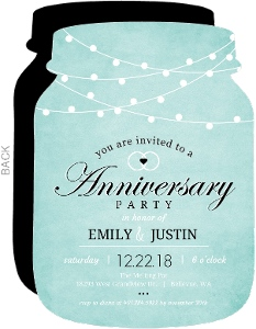 Party Lights 40th Anniversary Invitation