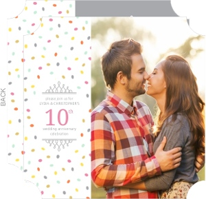 Confetti Celebration 10th Anniversary Invitation