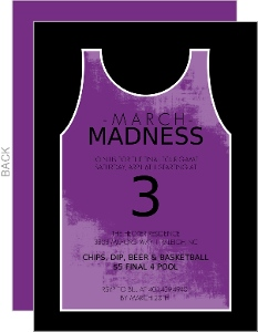 Black and Purple Jersey Basketball Invitation