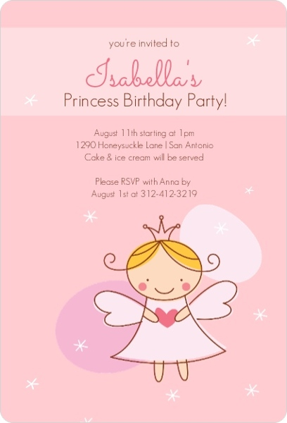 Pink fairy princess birthday invitation kids birthday invitations pink fairy princess birthday invitation filmwisefo
