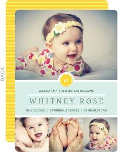 cheap girl birth announcements invite shop
