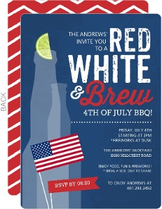 Patriotic Brew Celebration BBQ Invitations