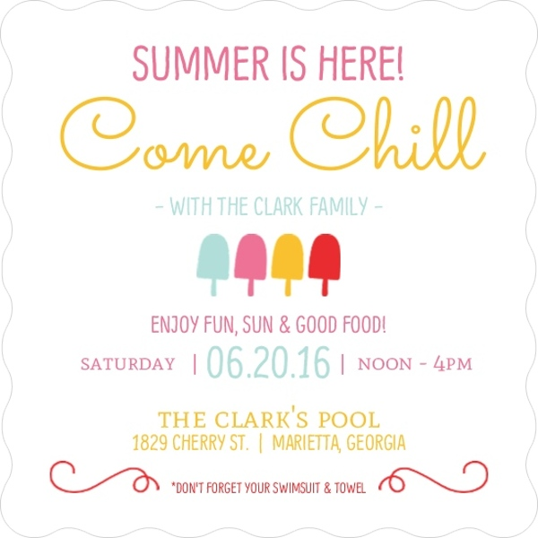 colorful popsicles summer party invitation end of summer party