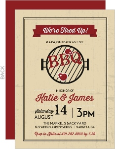 Rustic Grill BBQ Invitation