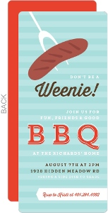 Modern Hot Dog BBQ Invitation