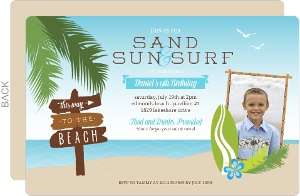Rustic Beach Summer Party Invitation