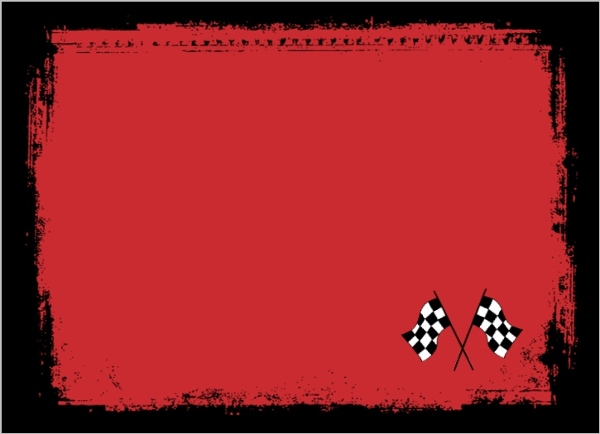 Go kart race car birthday party invitation kids birthday for Blank race car templates