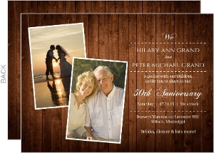 Country Wood Grain 50th Wedding Anniversary