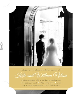 Yellow Ribbon Photo Wedding Anniversary Invite