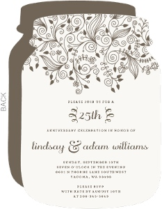 Elegant and Simple Anniversary Invite