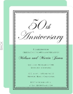 Cheap 50th Anniversary Invitations