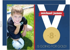 Gold Medal Kids Birthday Party Invites
