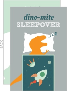 Sleepy Trex Birthday Invitation