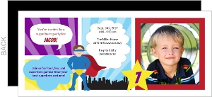 Superhero Boy Comic Birthday Invitation