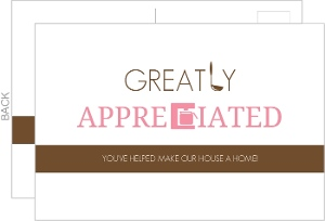 Brown and Pink Kitchen Appliances Thank You Card