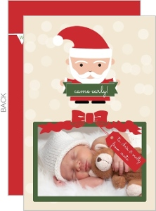 Our Christmas Gift Photo Birth Announcement