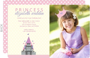 Cream Castle Princess Birthday Invitation
