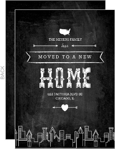 Bold Chalkboard New Home Moving Announcement