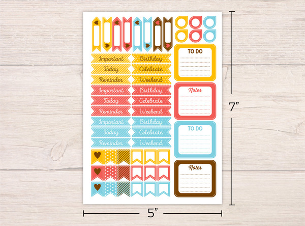 Coffee Premium Planner Stickers