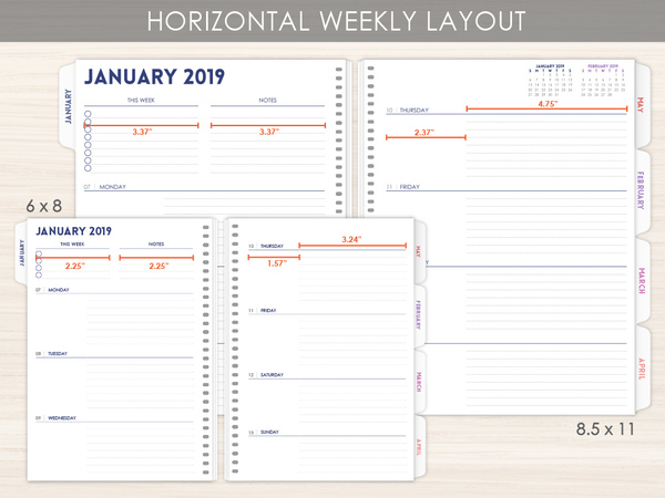 picture about Weekly Planner Pages known as Horizontal Weekly Planner Webpages via PurpleTrail