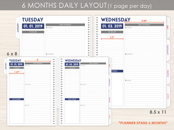 photo regarding Daily Planner Page named 6 Thirty day period Everyday Planner Internet pages by way of PurpleTrail