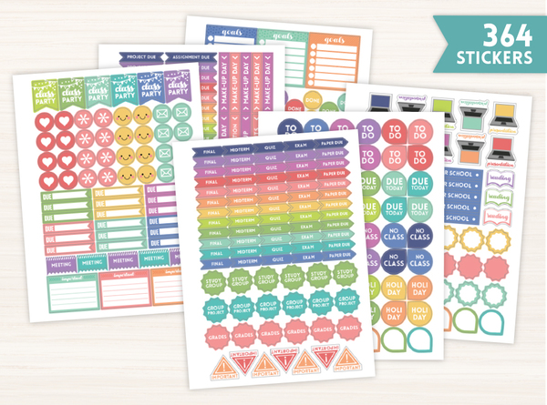 Student Planner Sticker Set