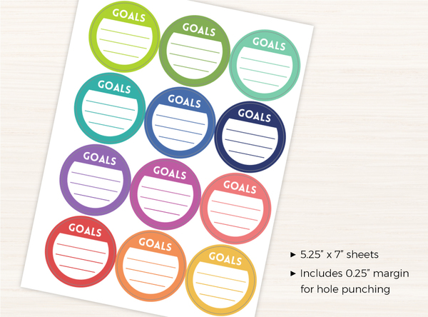 Monthly Goal Sticker Set