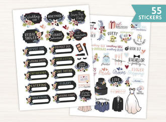 Rustic Wedding Sticker Set