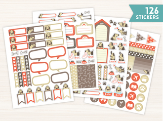 Simple Dog Planner Sticker Set