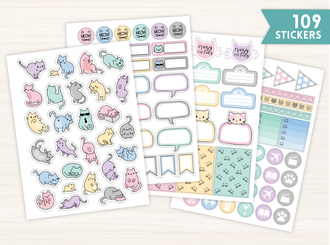 Kitties Sticker Set