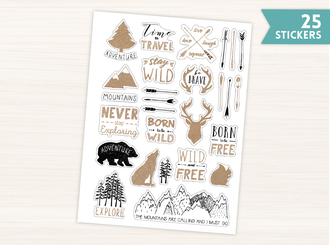 Rustic Outdoor Stickers