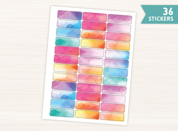 Simple Watercolor Banner Stickers
